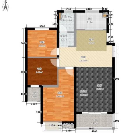 金泰华城3室0厅1卫1厨122.00㎡户型图