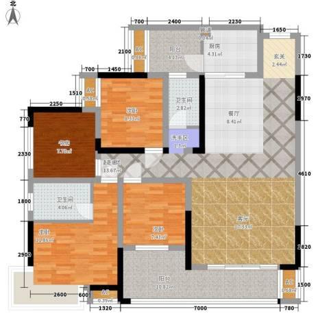 湖光山色4室0厅2卫1厨157.00㎡户型图