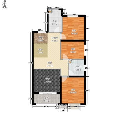 金泰华城3室0厅1卫1厨117.00㎡户型图
