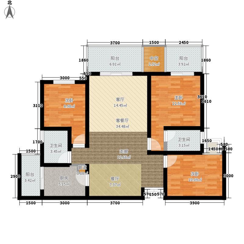 龙湖春森彼岸99.00㎡C1(已售完面积9900m户型