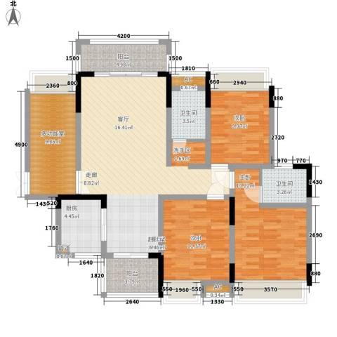湖光山色3室0厅2卫1厨144.00㎡户型图