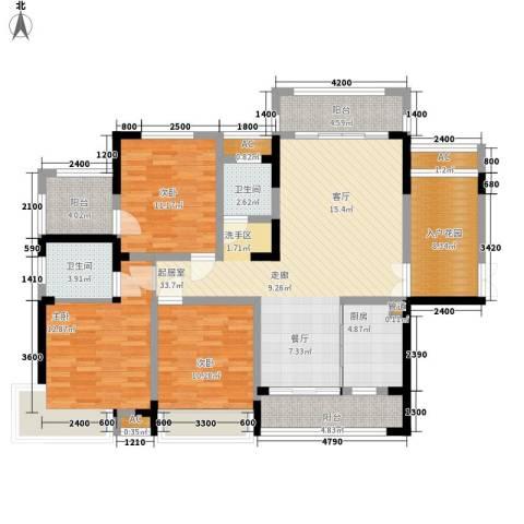 湖光山色3室0厅2卫1厨153.00㎡户型图