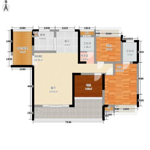 湖光山色3室0厅2卫1厨148.00㎡户型图