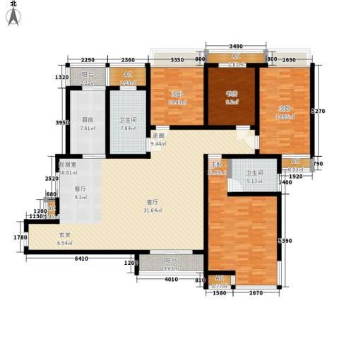 高新花园二期4室0厅2卫1厨168.00㎡户型图