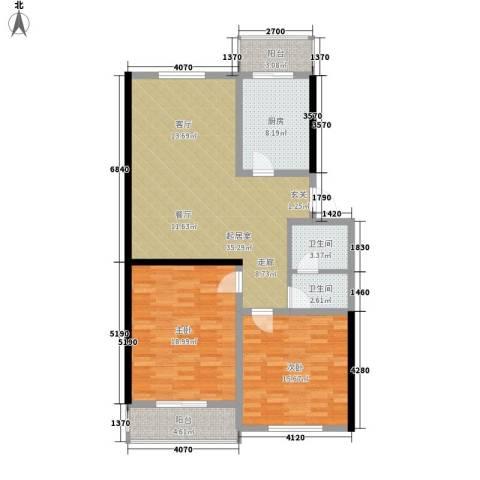 旭水蓝轩2室0厅2卫1厨104.00㎡户型图