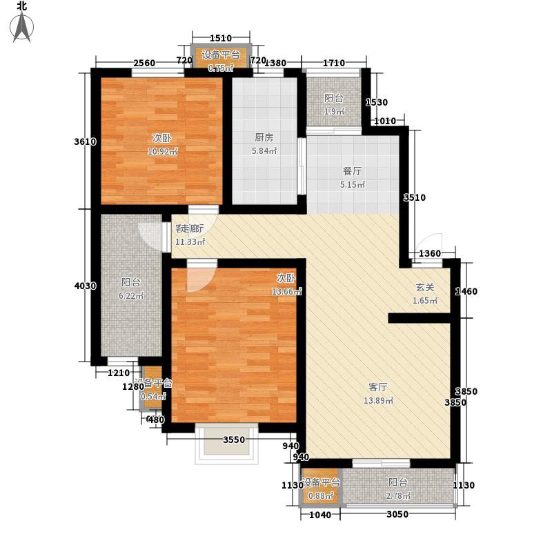华亭国际89.69㎡一期2号楼标准层A户型