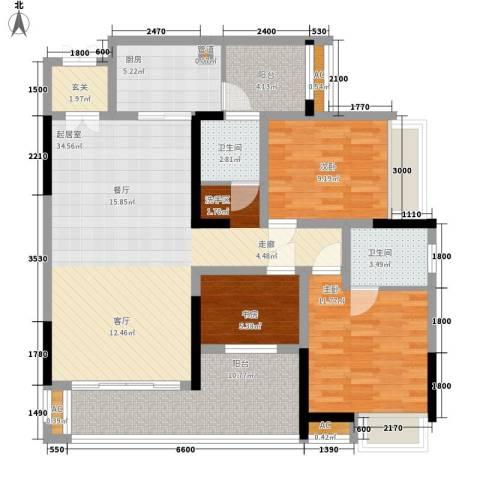 湖光山色3室0厅2卫1厨134.00㎡户型图