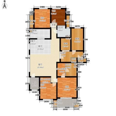 绿城百合花园4室1厅2卫1厨184.00㎡户型图
