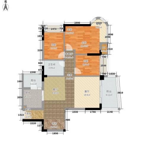 雅居乐・青花南湖3室1厅1卫1厨116.00㎡户型图