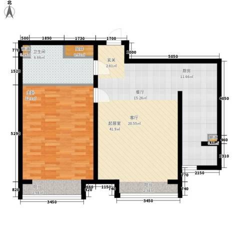 盛唐府邸1室0厅1卫0厨77.00㎡户型图