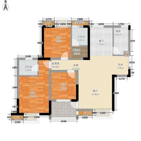世纪城龙佑苑3室0厅2卫1厨140.00㎡户型图