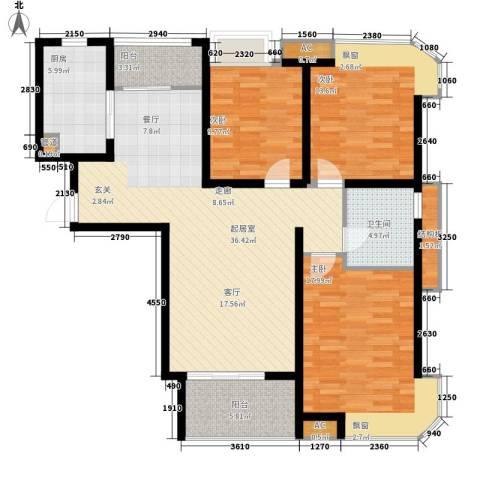 龙商荣域3室0厅1卫1厨115.00㎡户型图