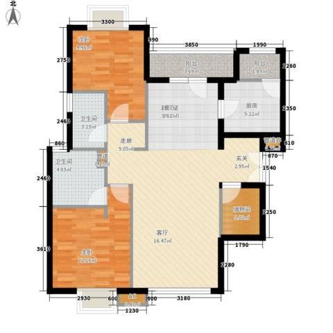 富力城2室0厅2卫1厨106.00㎡户型图