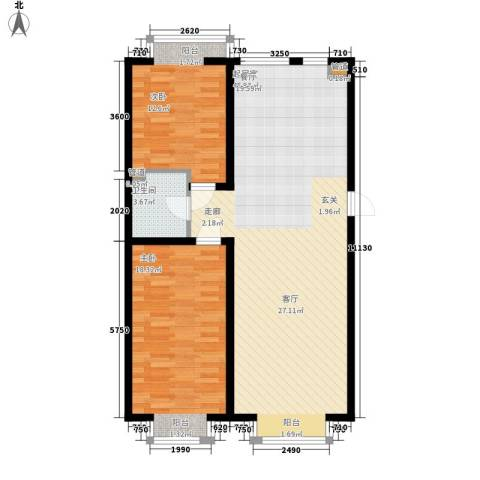 盛唐府邸2室0厅1卫0厨107.00㎡户型图