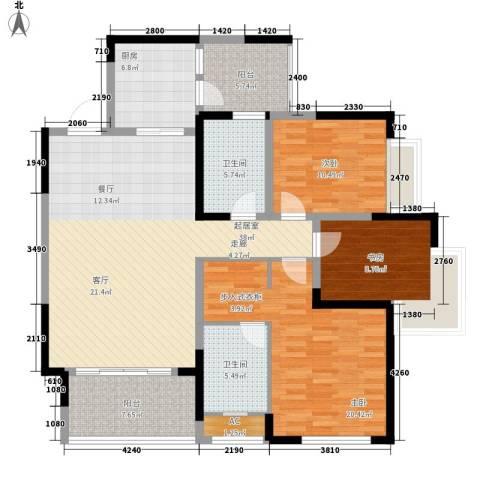 朵力尚美国际3室0厅2卫1厨110.35㎡户型图