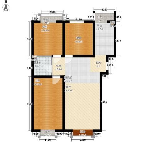 盛唐府邸3室0厅1卫0厨118.00㎡户型图