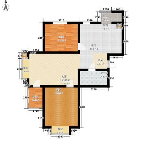 盛唐府邸2室0厅1卫0厨115.00㎡户型图