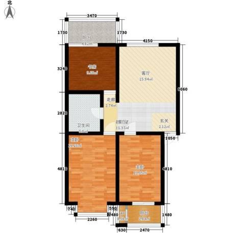 古龙湾3室0厅1卫0厨112.00㎡户型图