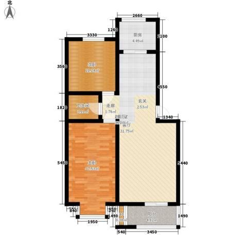 古龙湾2室0厅1卫1厨104.00㎡户型图