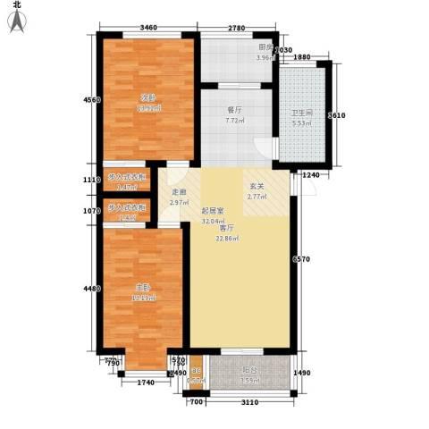 古龙湾2室0厅1卫1厨110.00㎡户型图