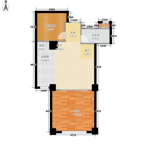 海御191室0厅1卫0厨86.00㎡户型图