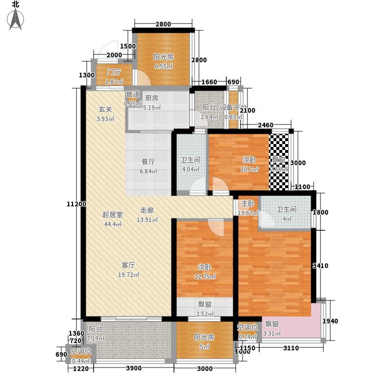 龙光水悦龙湾137.00㎡10号楼二单元02、03户型5室2厅