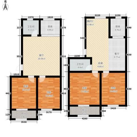南海昌阳花园小区4室2厅2卫2厨138.55㎡户型图