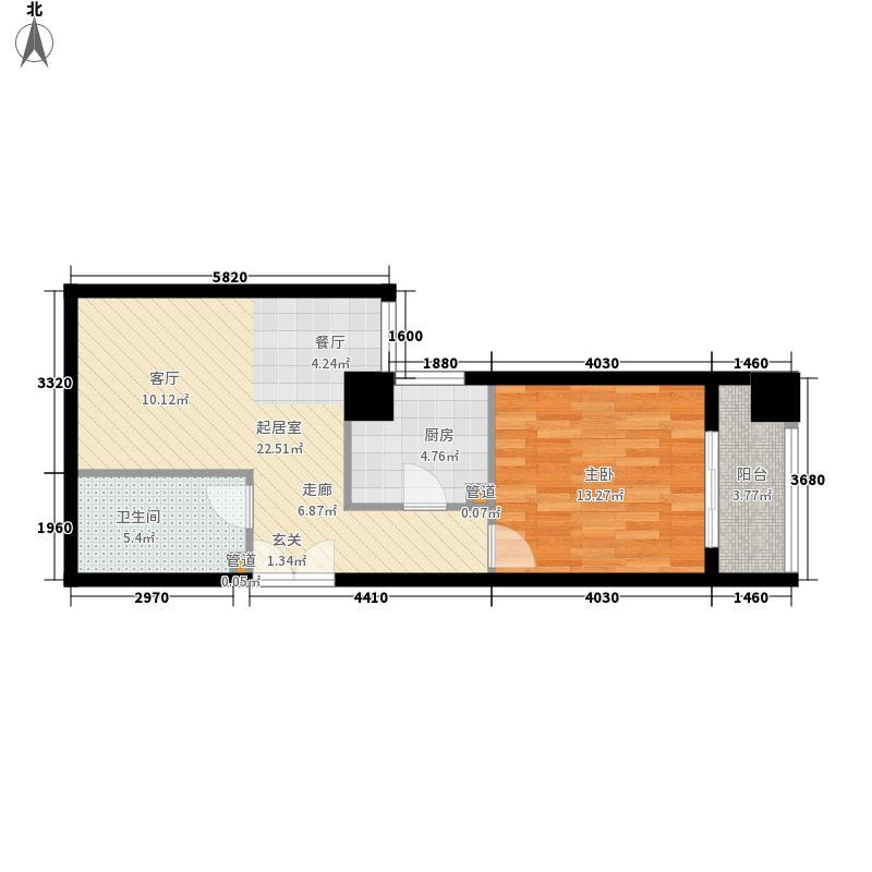恒大国际公寓49.00㎡面积4900m户型