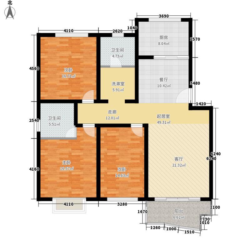 瑞祥花园如意世家138.72㎡4号楼B面积13872m户型