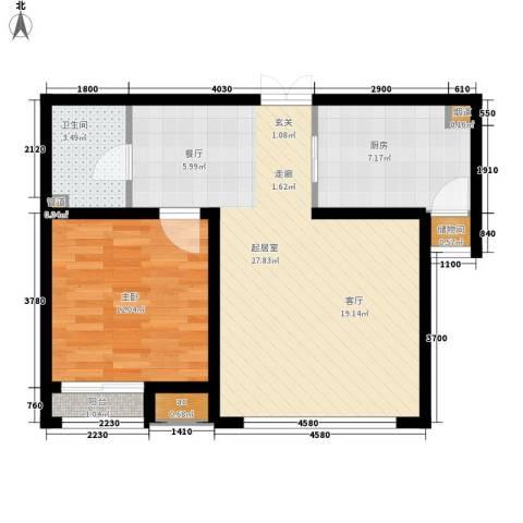 远洋新干线1室0厅1卫1厨70.00㎡户型图