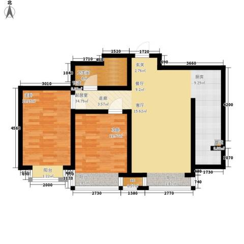 盛唐府邸2室0厅1卫0厨93.00㎡户型图