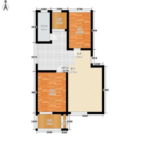 古龙湾2室0厅1卫1厨112.00㎡户型图