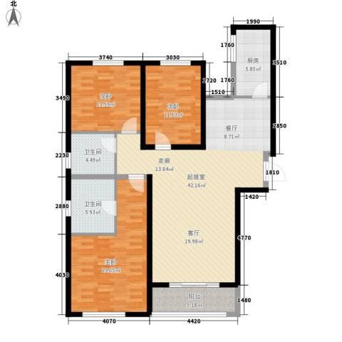 三丰中心思想3室0厅2卫1厨119.00㎡户型图