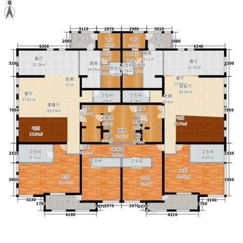中粮祥云国际生活区4室2厅8卫2厨429.00㎡户型图