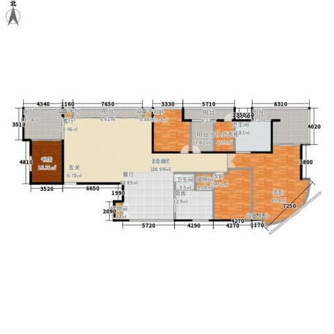三箭如意苑4室0厅2卫1厨336.00㎡户型图