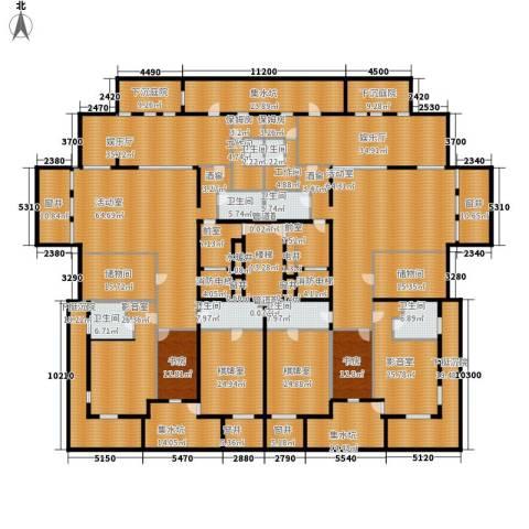 中粮祥云国际生活区2室0厅8卫0厨607.60㎡户型图