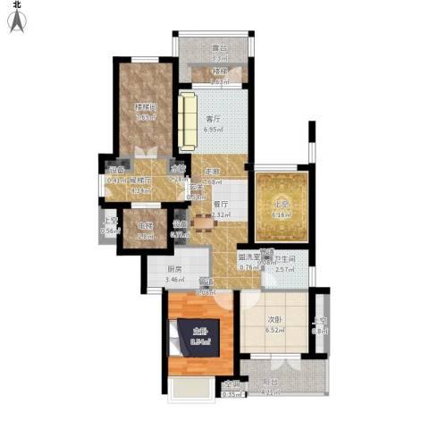 华鸿罗兰春天2室1厅1卫1厨110.00㎡户型图