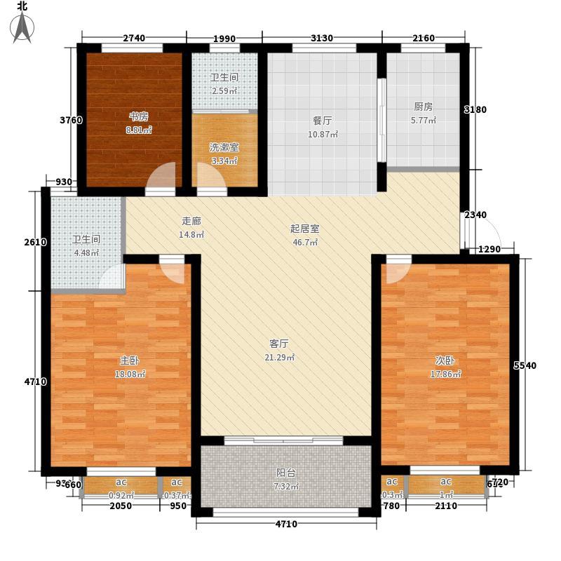 东方明珠东方明珠一楼平面C1A户型3室2厅2卫1厨134.00㎡户型3室2厅2卫