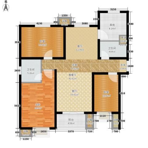 赵都新城1室1厅2卫1厨162.00㎡户型图