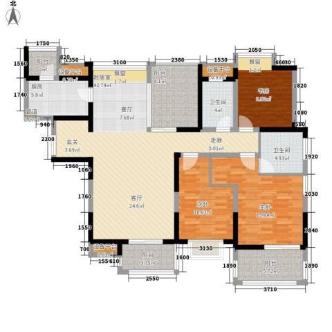 中海国际社区3室0厅2卫1厨135.00㎡户型图