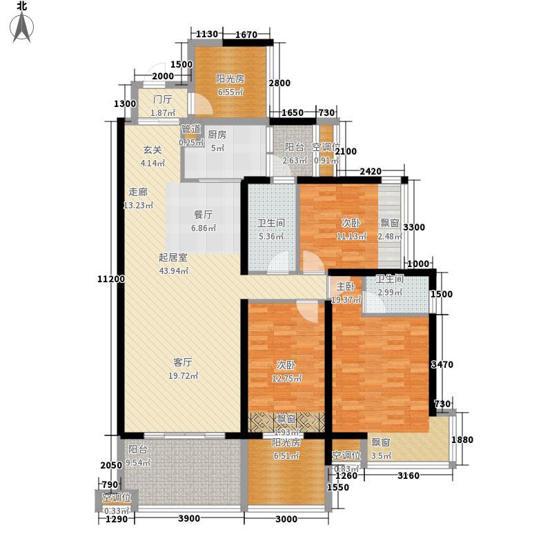 龙光水悦龙湾139.00㎡10号楼一单元02、03户型5室2厅