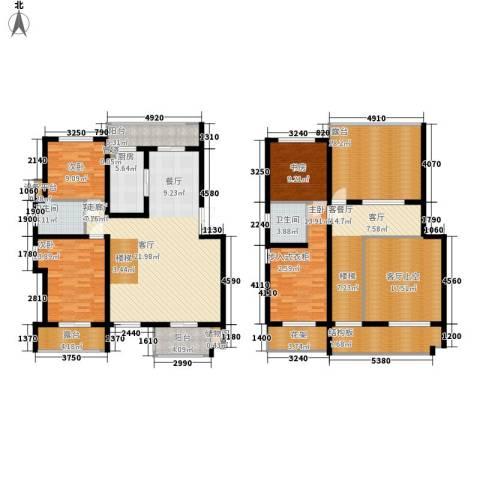 中都沁园4室2厅2卫1厨252.00㎡户型图