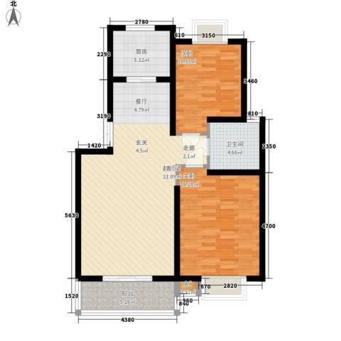 北京路18号2室0厅1卫1厨86.00㎡户型图