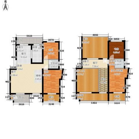 中都沁园4室2厅2卫1厨255.00㎡户型图