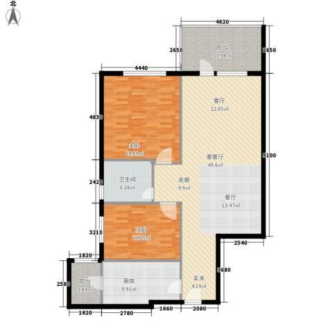 海御192室1厅1卫1厨126.00㎡户型图