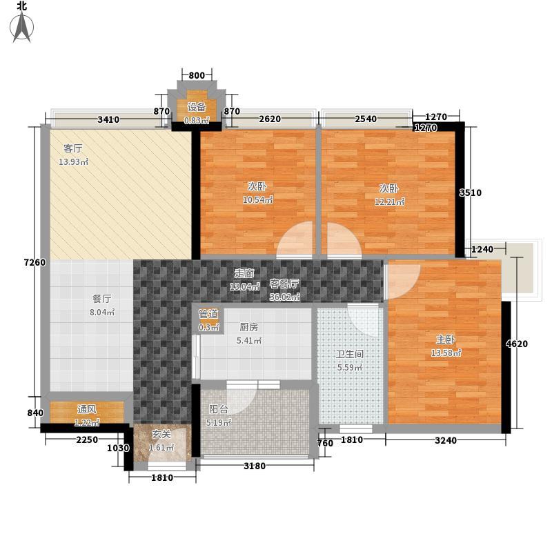 保利天悦101.96㎡公寓06单位户型