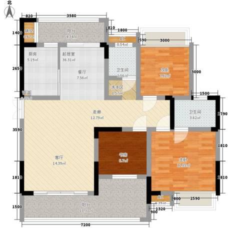湖光山色3室0厅2卫1厨135.00㎡户型图