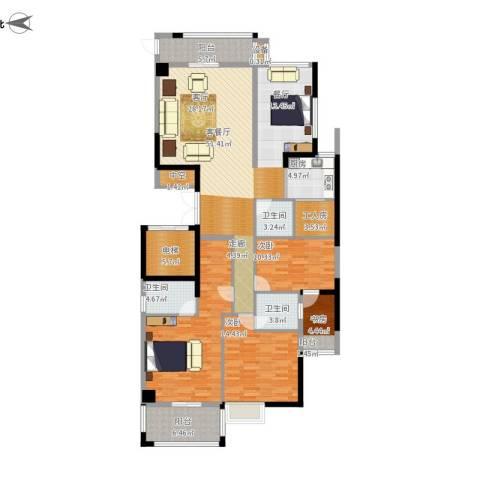 鲁能领秀城4室1厅2卫1厨196.00㎡户型图