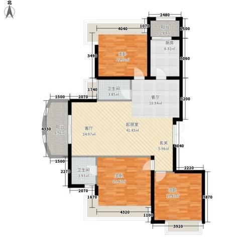 利君明天3室0厅2卫1厨149.00㎡户型图