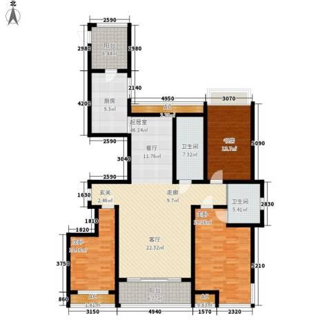 高新花园二期3室0厅2卫1厨190.00㎡户型图
